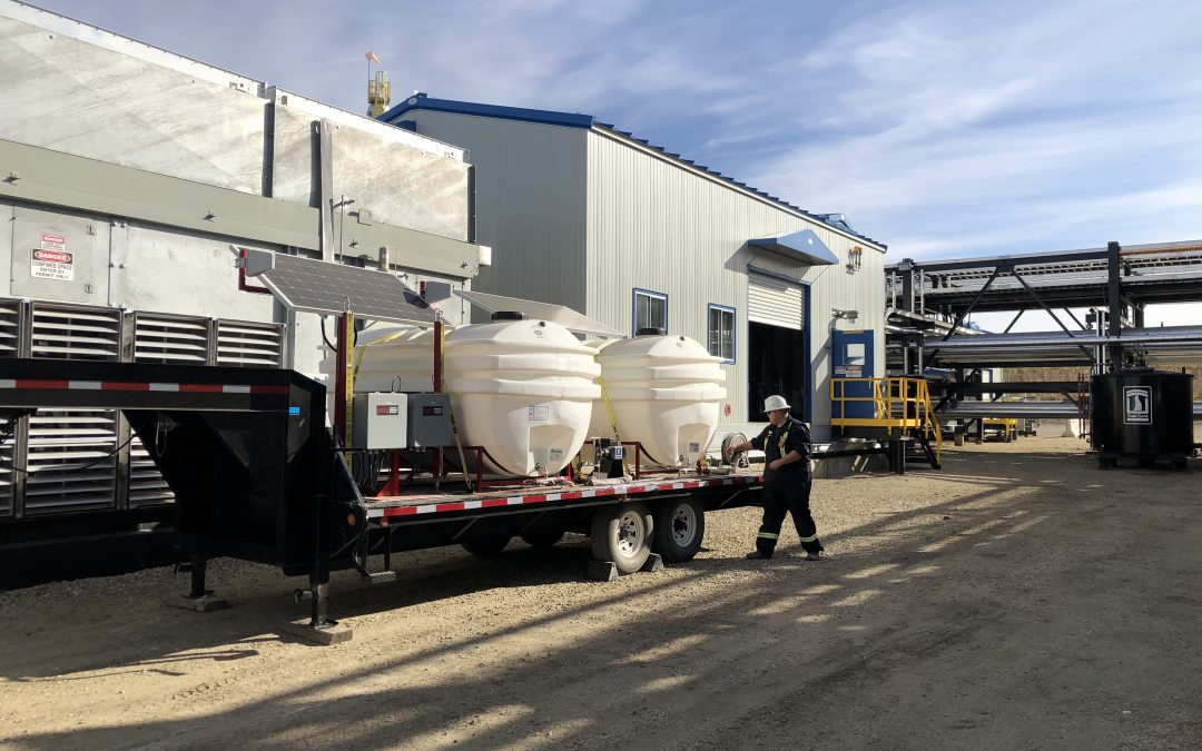 Portable Chemical Tank Trailer